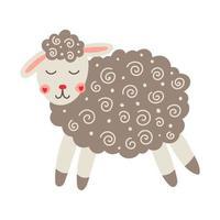 mignon petit mouton vecteur