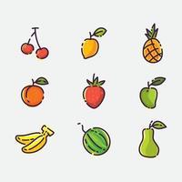 concept d & # 39; icône de fruits vecteur