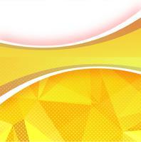 Abstrait polygone ondulé vecteur