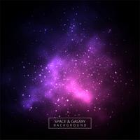 Illustration de fond abstrait univers sombre coloré galaxie vecteur