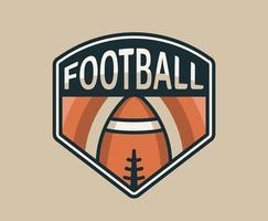 Emblèmes du football américain vecteur