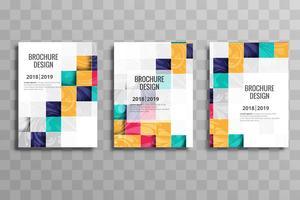 Modèle de brochure entreprise mosaïque colorée abstraite définie vector