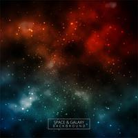 Vecteur de fond coloré glow univers galaxy