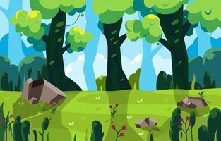 vue sur la forêt pour l'activité estivale vecteur