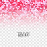 Illustration de fond transparent magnifique polygone rose vecteur
