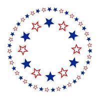 décor de cadre rond étoilé patriotique vecteur