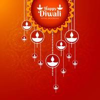 Conception élégante et brillante du festival de diwali vecteur