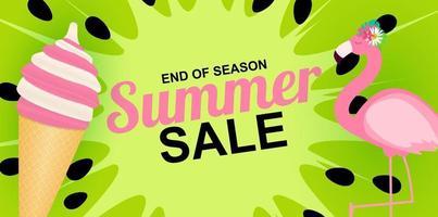 fond d'affiche de vente d'été de fin de saison vecteur