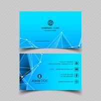 Vecteur de conception de carte de visite bleu moderne