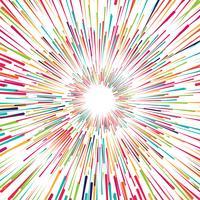 Beaux rayons colorés vector background
