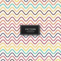 Motif de belles lignes colorées