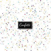 Vecteur de fond élégant confetti coloré