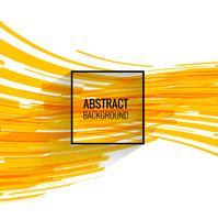 Arrière-plan de lignes de technologie jaune moderne vecteur