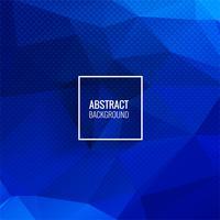 Fond géométrique abstrait polygone bleu vecteur