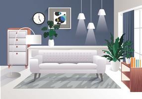 Vecteur d'éléments réalistes de design d'intérieur Vol 3