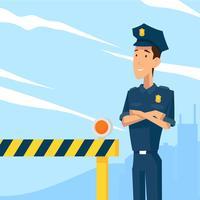 Vecteur d'officier de police