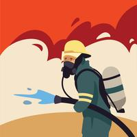 sapeur pompier vecteur