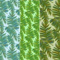 Vecteur série de feuilles de bananier de motifs