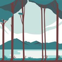 Conception de vecteur de paysage de montagne
