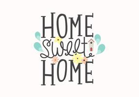 Home Sweet Home Lettrage vecteur