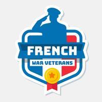 Vecteur d'anciens combattants français