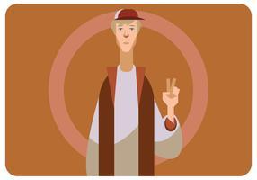 Signe de la paix par un vecteur Dude