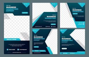 modèle de publication sur les réseaux sociaux d'agence de marketing vecteur