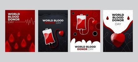 carte de voeux journée mondiale du don de sang vecteur