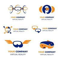 collection de logos de réalité virtuelle moderne et simple vecteur