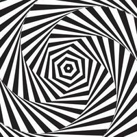 fond hypnotique noir et blanc vecteur