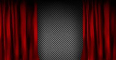 rideau de velours rouge coloré réaliste plié vecteur