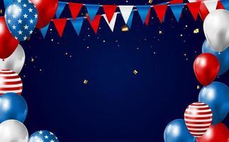 4 juillet, jour de l'indépendance aux États-Unis. peut être utilisé comme bannière ou affiche. vecteur