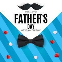 fond de vente de fête des pères. affiche, flyer ou carte de voeux. vecteur