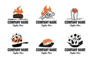 ensemble de logos alimentaires vecteur