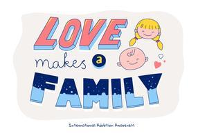 Illustration de vecteur de citation de typographie internationale adobtion Illustration