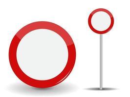 interdiction de voyager rond panneau de signalisation rouge vecteur