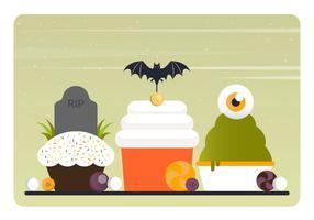 Éléments et accessoires de Halloween vecteur
