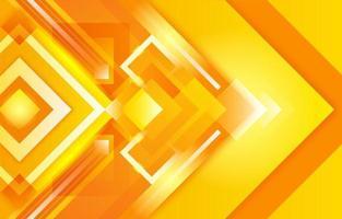 dégradé carré créatif jaune orange brillant vecteur
