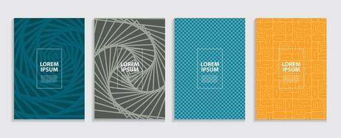 motif géométrique de conception de modèle de couvertures minimales simples vecteur