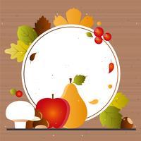 Éléments d'automne vectoriels et Illustration vecteur