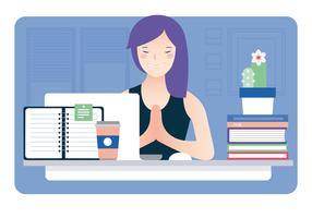 Illustration de bureau du concepteur de vecteur