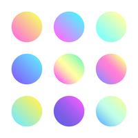 Échantillons de dégradé holographique doux vecteur