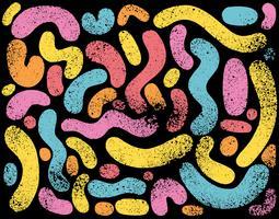 motif de gribouillis abstrait