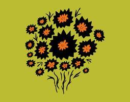 bouquet de fleurs de chardon vecteur