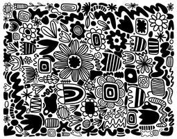 motif de fleurs abstraites vecteur