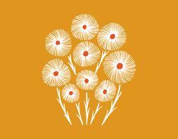 bouquet de fleurs de pissenlit vecteur