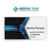 médecine de présentation de carte vecteur