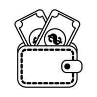 conception de vecteur de portefeuille isolé