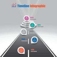 business road map chronologie infographie jalon voie vers le podium. Conçu pour le diagramme de présentation de données de marketing numérique de technologie de processus de diagramme moderne. vecteur