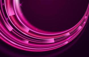 fond de vague rose néon vecteur